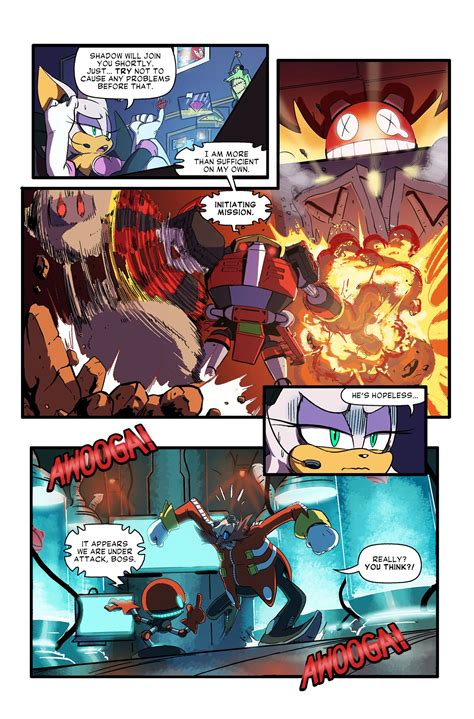 sonic forces looming shadow web comic brings  team