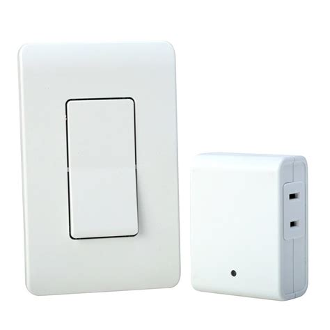 southwire 8 indoor plug in wireless wall switch light