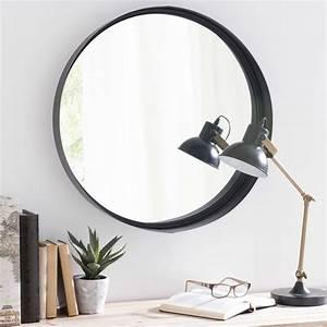 Miroir Rond Métal Noir : miroir rond en m tal noir d60 maisons du monde ~ Teatrodelosmanantiales.com Idées de Décoration