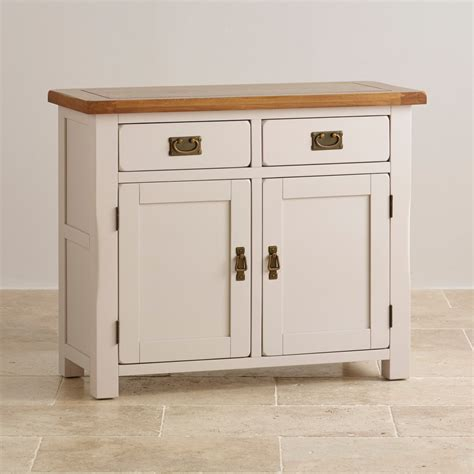 Small Sideboard by Kemble Small Painted Sideboard In Rustic Solid Oak