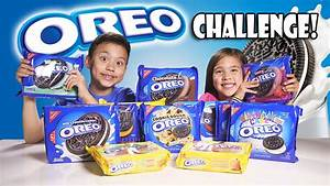 OREO CHALLENGE!!! The Blindfold Cookie Tasting Game Show ...
