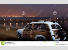 Vintage Ford Woodie At Night Stock Photo Image 35254948