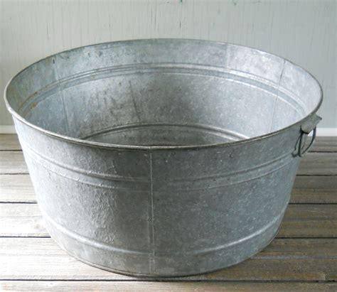 metal water tub vintage galvanized wash tub large
