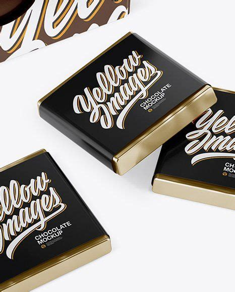Hope you like this free mock up. Paper Chocolate Bar Mockup - Glossy Paper Box With ...