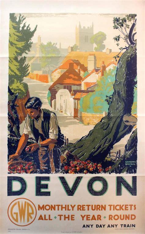 original  great western railway gwr poster devon