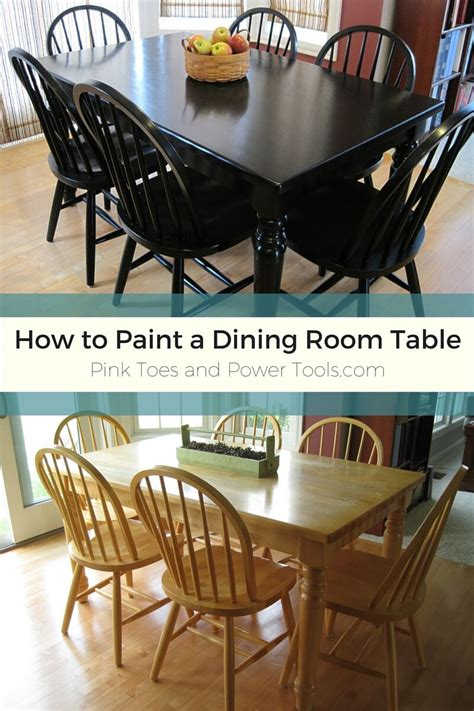 painting the dining room table 5 finished maybe pink toes and power tools