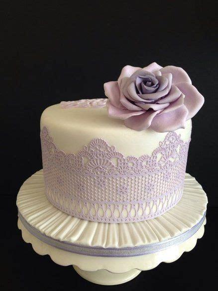 shades  lavender wedding cake handmade edible lace