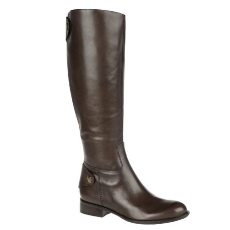 franco sarto rivoli riding boots brown bark lyst
