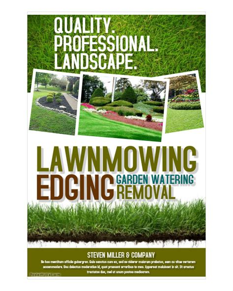 landscaping flyer 16 landscaping flyers free psd ai eps document free premium templates
