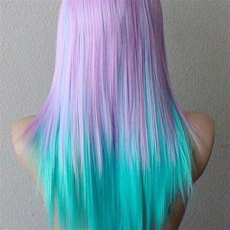 Light Pastel Dyed Hair Amazing Lilac And Bright Turquoise
