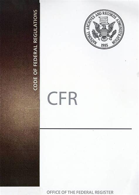 code  federal regulationspaper  government