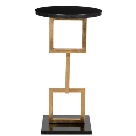 gold and marble end table safavieh cassidy gold and black marble top end table