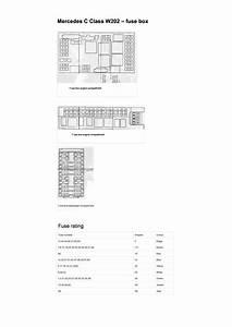 W202 Fuse Box Diagram Pdf  14 5 Mb