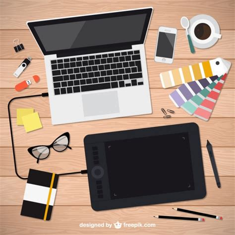 graphic design tools realistic graphic designer tools vector free