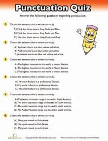 Punctuation Quiz Worksheet Education com
