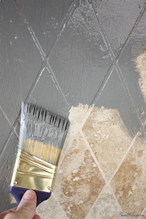 Removing Wall Tiles In Bathroom by Paint Tile Backsplash With Based Paint For An Easy