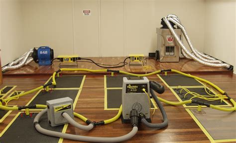 Hardwood Floor Drying Mats - specialty drying of home and business flooring from a flood