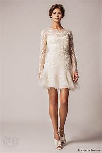 temperley london fall winter 2015 wedding dresses With long sleeve short wedding dresses