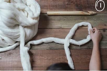 Scarf Wool Chunky Diy Knitting Noodles Blanket