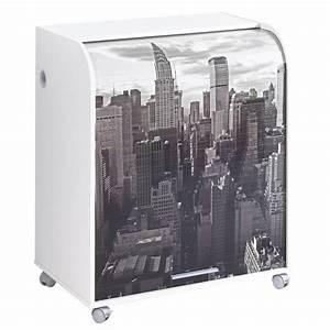 Bureau New York : bureau secr taire informatique rideau design blanc new ~ Nature-et-papiers.com Idées de Décoration