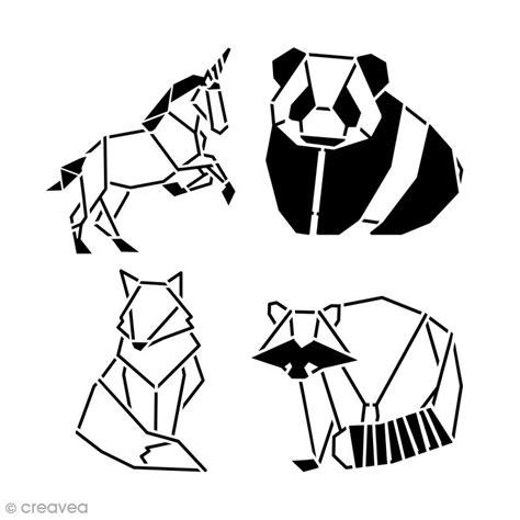 cuisine moleculaire pochoir multiusages 15 x 15 cm animaux origami 4 pcs pochoir mural creavea