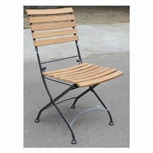 Chaise Fer Forgé Et Bois : chaise pliante louisiane chaises de jardin tables ~ Dailycaller-alerts.com Idées de Décoration