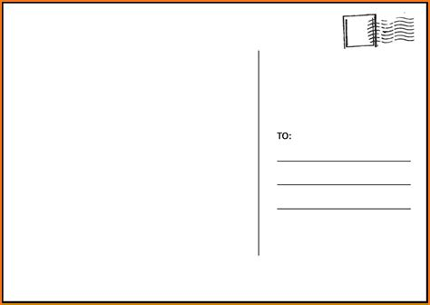Free Blank Postcard Template For Word by Search Results For Free Daily Planner Template