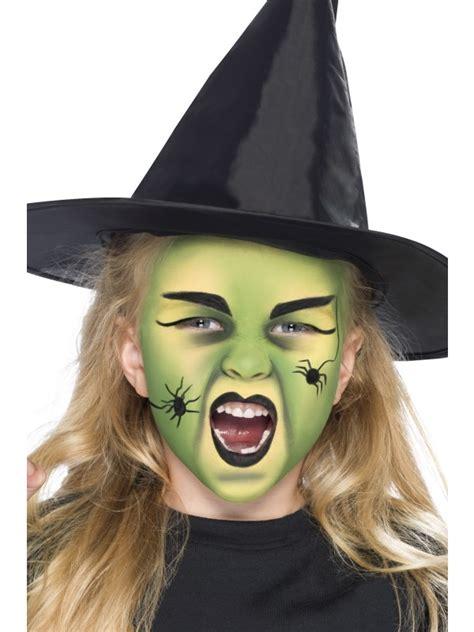 maquillage de sorcière pour fille maquillage avec du vert