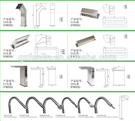 polishing stainless water curtain for swimming pool and spa swimming pool