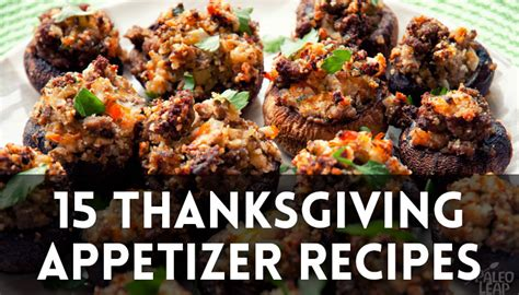 15 thanksgiving appetizer recipes paleo leap