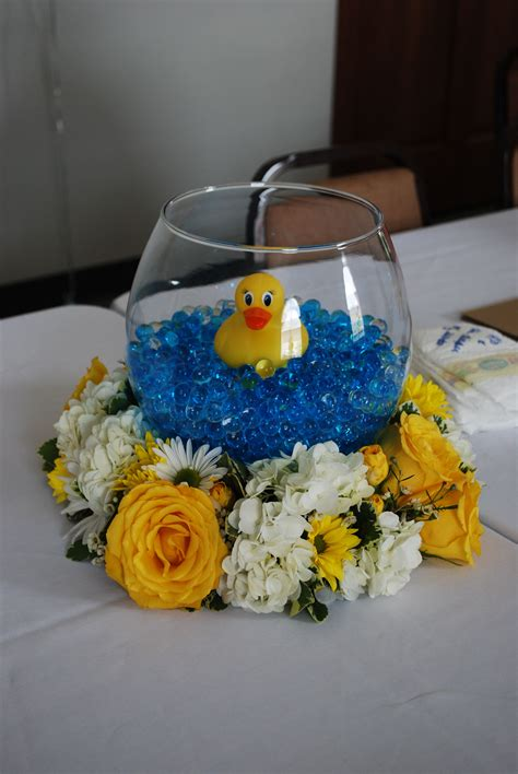 decorations for a baby shower baby shower rubber duck centerpieces my centerpieces for