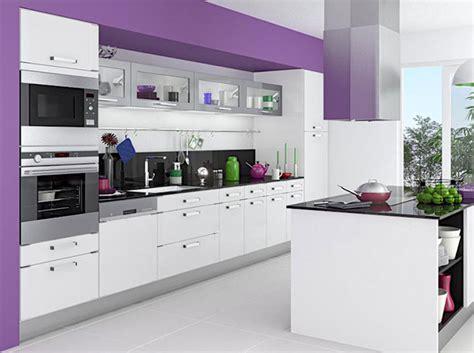deco cuisine violet mettez de la couleur en cuisine décoration
