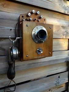 Telephone Mural Vintage : ancien telephone mural antique vintage old phone alte antik telefon deco loft telephone ~ Teatrodelosmanantiales.com Idées de Décoration