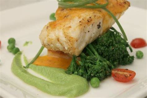 grouper recipes pea coulis spiced roasted coconut pepper bell
