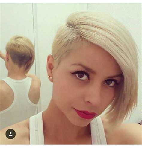 pretty short hairstyles   faced ladies