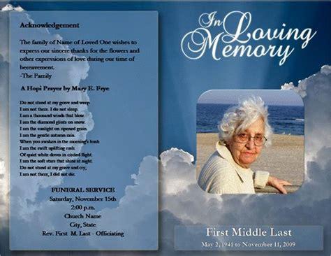 editable funeral program template bravebtr
