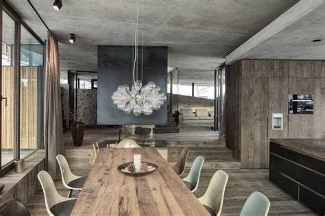 Austrian Chalet With Amazing Interior Made Of Concrete, Wood And Glass