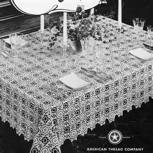 Free Vintage Crochet Tablecloth Patterns