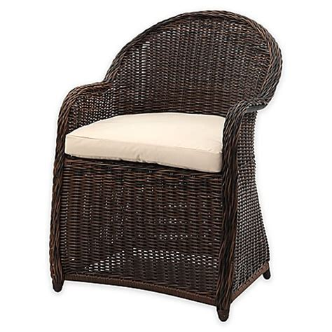 Safavieh Wicker Chairs by Safavieh Newton All Weather Wicker Arm Chair With Cushion
