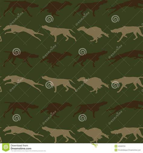 fond sans couture de chiens de chasse illustration de
