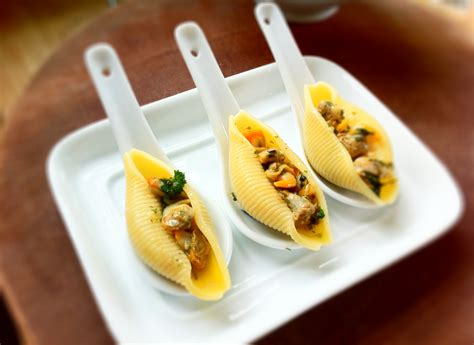 canapes on spoons recipes clam shells crabby for cancer