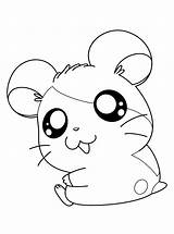 Hamtaro Coloring Pages Anime Tv Series Printable Drawings Smiling Sheets sketch template