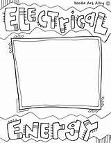 Energy Coloring Printable Electrical Printables sketch template