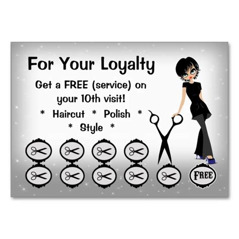 where can i get a free haircut 1000 images about customer loyalty card templates on 5635