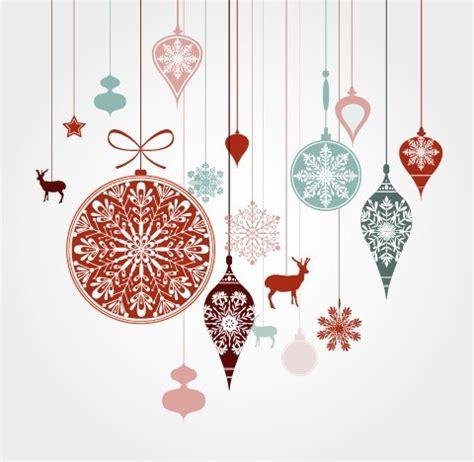 free hanging christmas holiday ornaments vector titanui