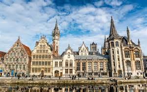 Rooftops Spires And Fa Ades Ghent Belgium Travel Past 50
