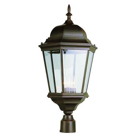 bel air lighting bel air lighting 3 light outdoor rust post light 51001 rt