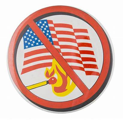 Flag Burning Button Museum Ban Should Buttons