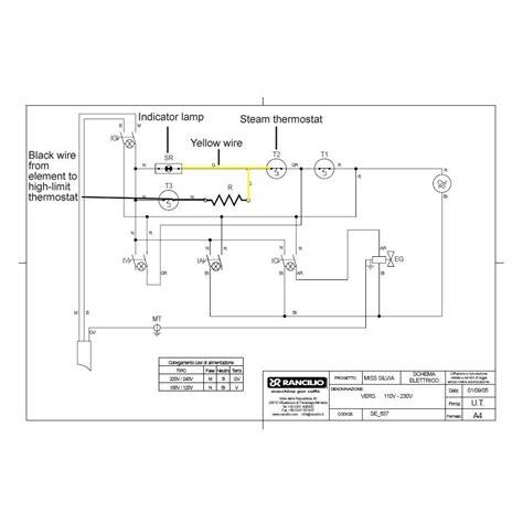 rancilio silvia  boiler heating element espresso parts