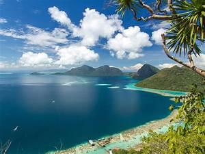 Asia, Malaysia, Bohey, Dulang, Tropics, Island, Ocean, Mountains